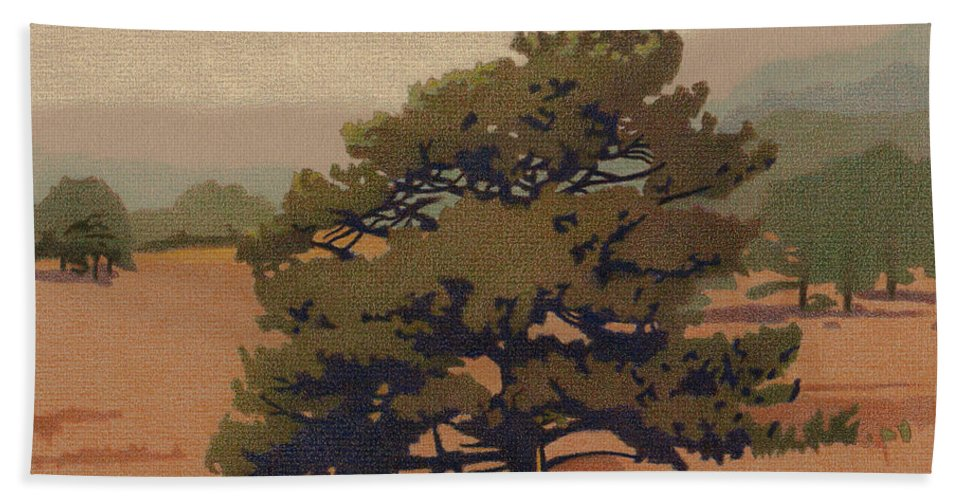 Art Hand Towel featuring the drawing Yellow Pine by Dan Miller