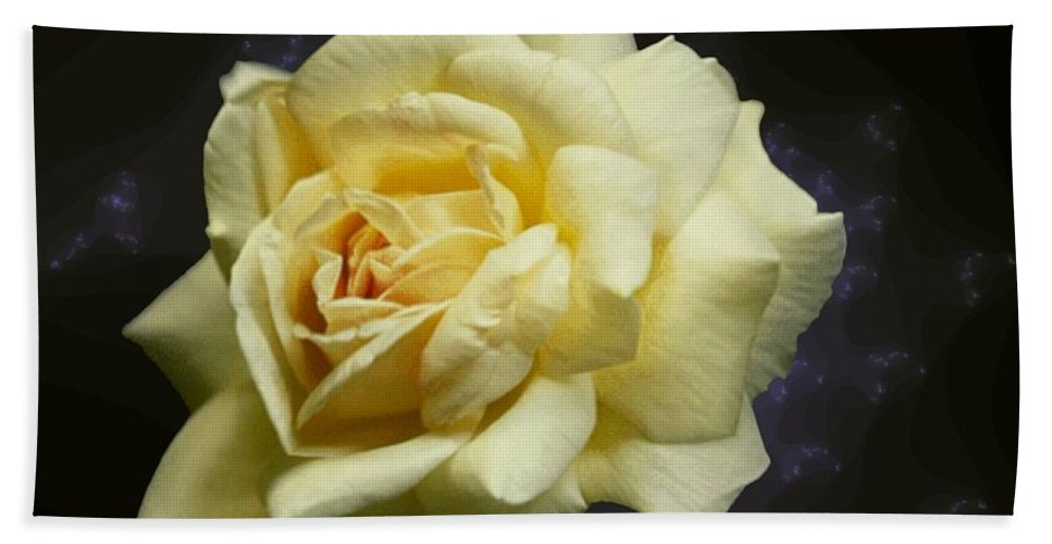 Yellow Rose Hand Towel featuring the photograph Yellow Rose 2 by Tim Allen