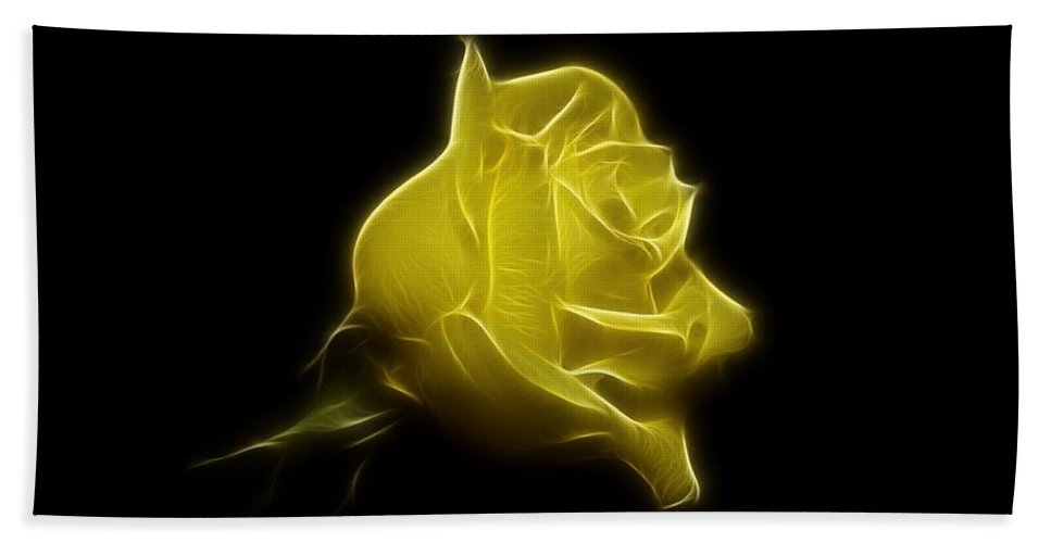 Rose Bath Sheet featuring the photograph Yellow Rose by Sandy Keeton