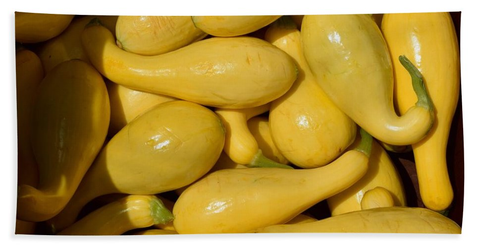 Yellow Squash Bath Sheet featuring the photograph Yellow Squash by Timothy Smith