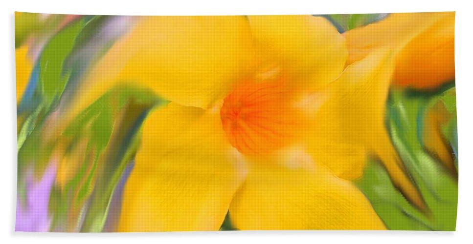 Yellow Bath Sheet featuring the photograph Yellow Stretch by Ian MacDonald