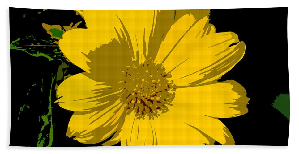 Flower Hand Towel featuring the photograph Yellow Sunshine Work Number 8 by David Lee Thompson