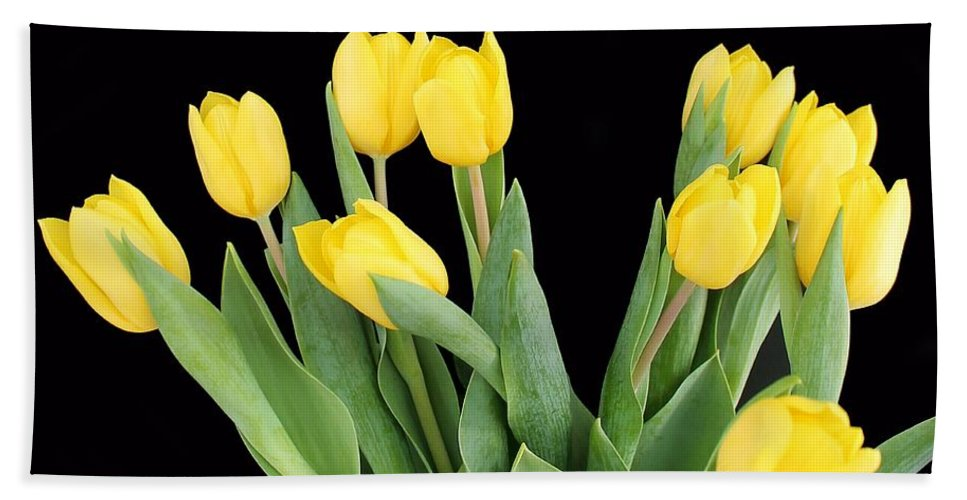 Flower Bath Sheet featuring the photograph Yellow Tulips by FL collection