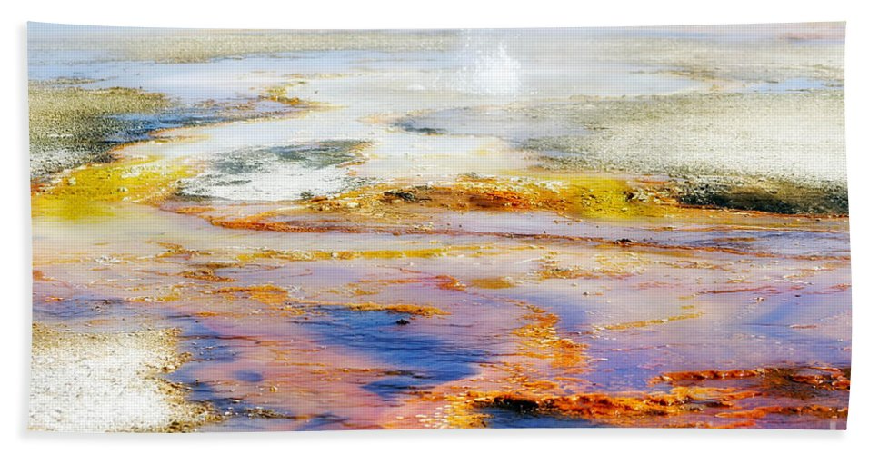 Colorful Bath Sheet featuring the photograph Yellowstone Abstract II by Teresa Zieba