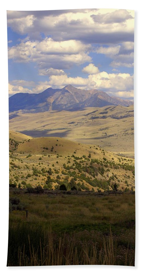 Yellowstone National Park Hand Towel featuring the photograph Yellowstone View by Marty Koch
