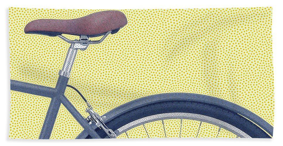 Bicycle Hand Towel featuring the digital art Yelow Bike by Dorival Moreira