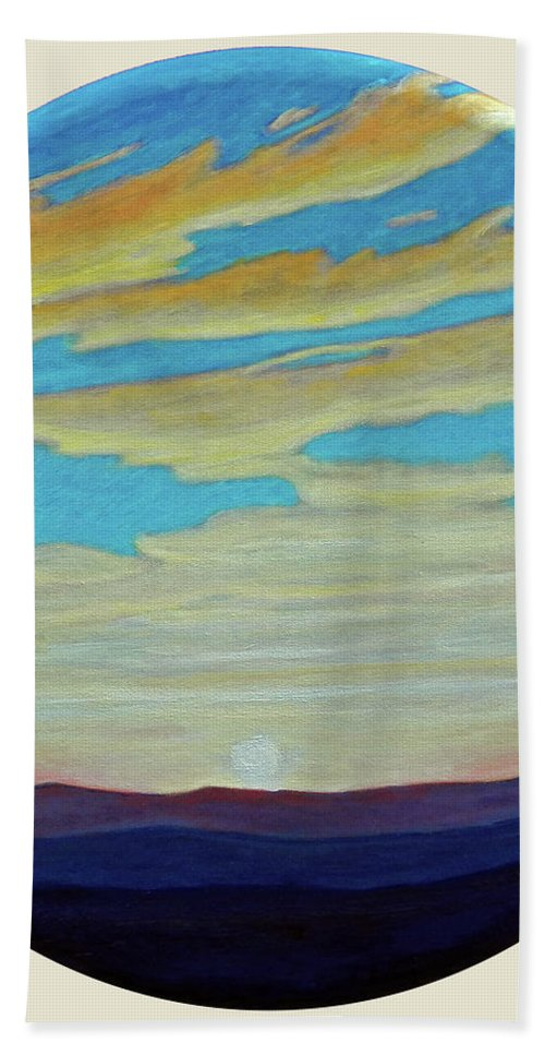 Landscape Hand Towel featuring the painting Yesterday by Brian Commerford