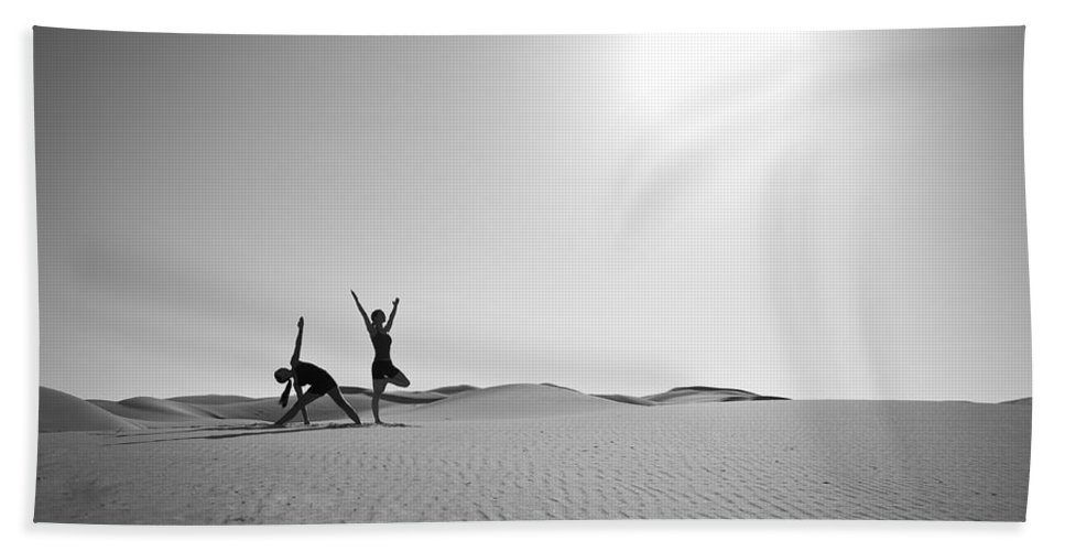 Yoga Bath Sheet featuring the photograph Yoga Landscape by Scott Sawyer
