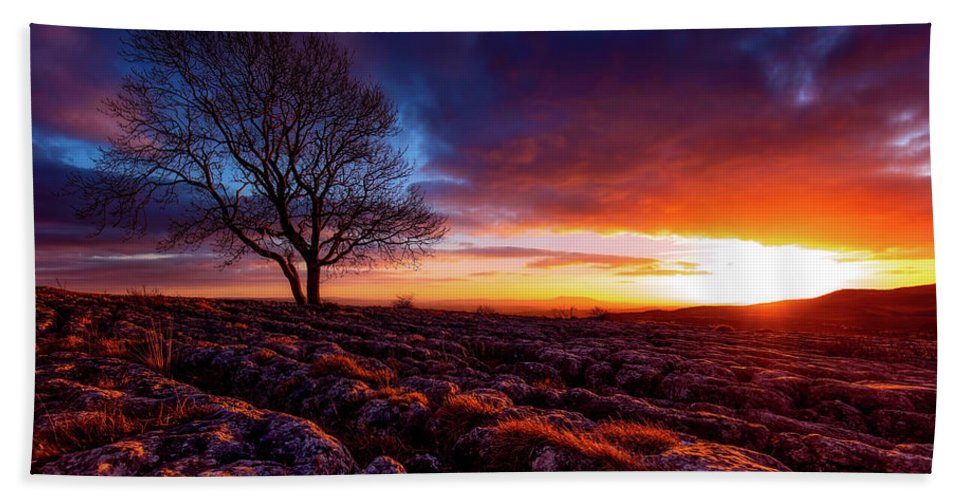 Yorkshire Hand Towel featuring the photograph Yorkshire Beauty by Unsplash