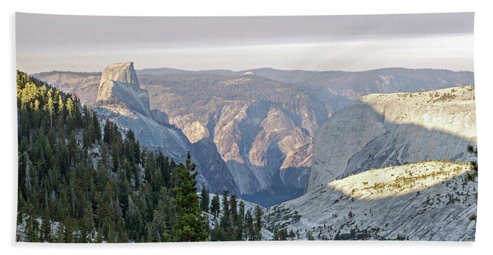 Yosemite Bath Sheet featuring the photograph Yosemite Sunrise II by Angie Schutt