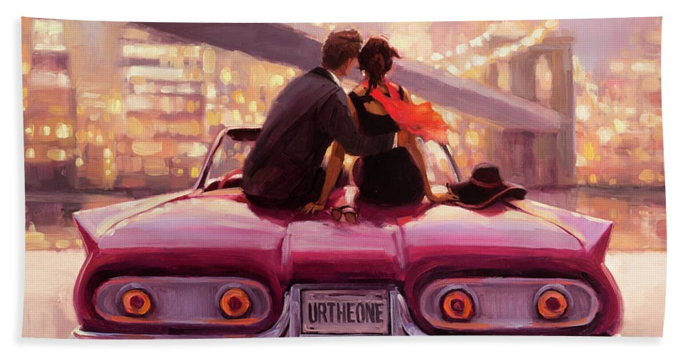 Love Bath Towel featuring the painting You Are the One by Steve Henderson