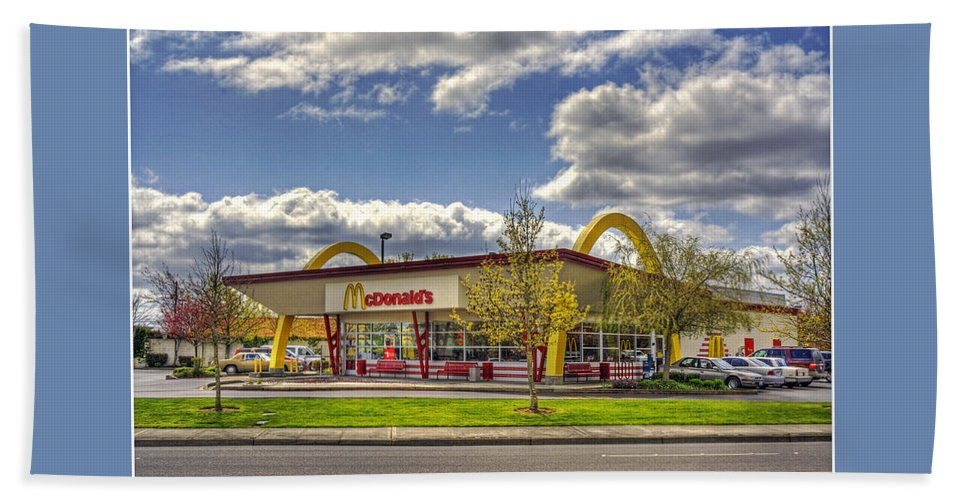 Mcdonald's Hand Towel featuring the photograph You Deserve A Break Today by Chris Anderson