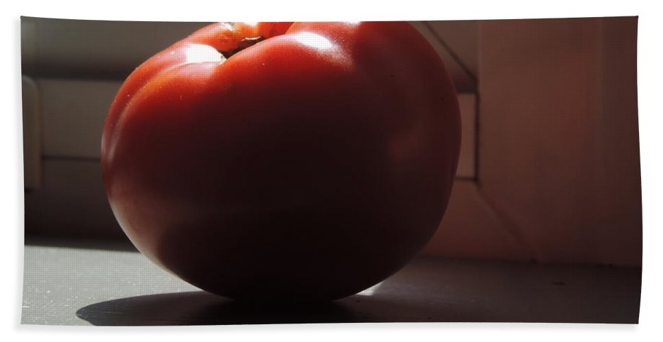 you Say Tomato... Bath Sheet featuring the photograph You Say Tomato by Bill Tomsa