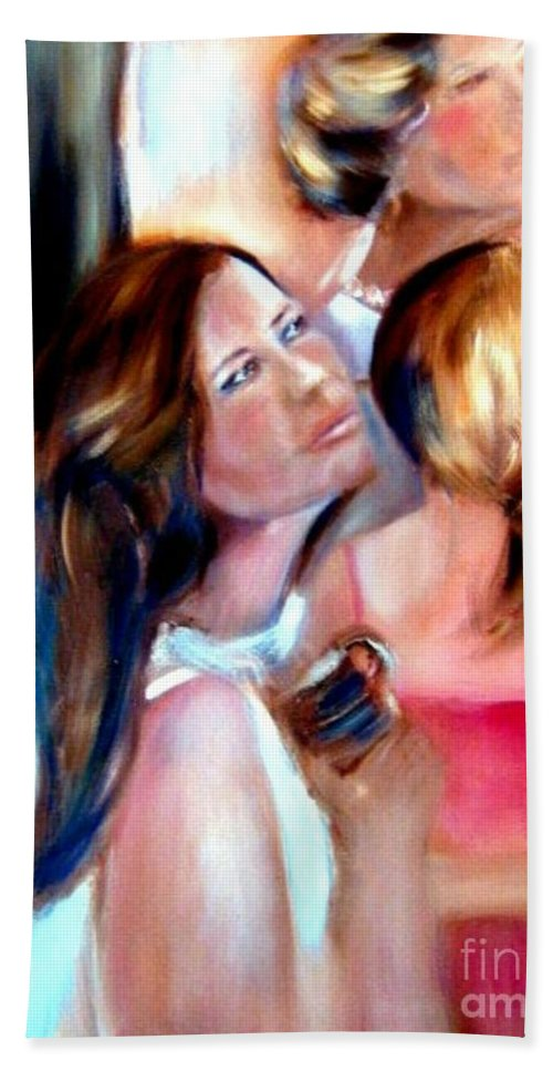 Mother Bath Towel featuring the painting You Would Have Loved Her by Sandy Ryan