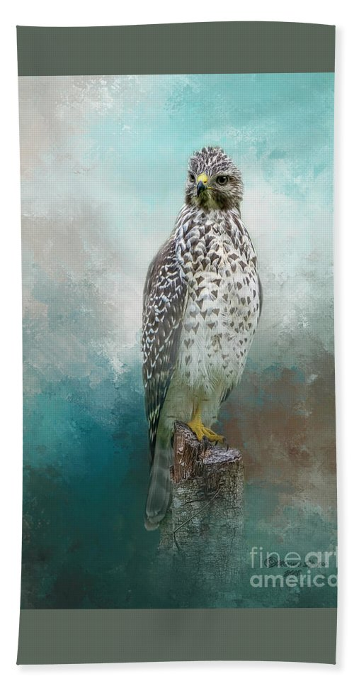 Bird Bath Towel featuring the mixed media Young Eyes by Marvin Spates