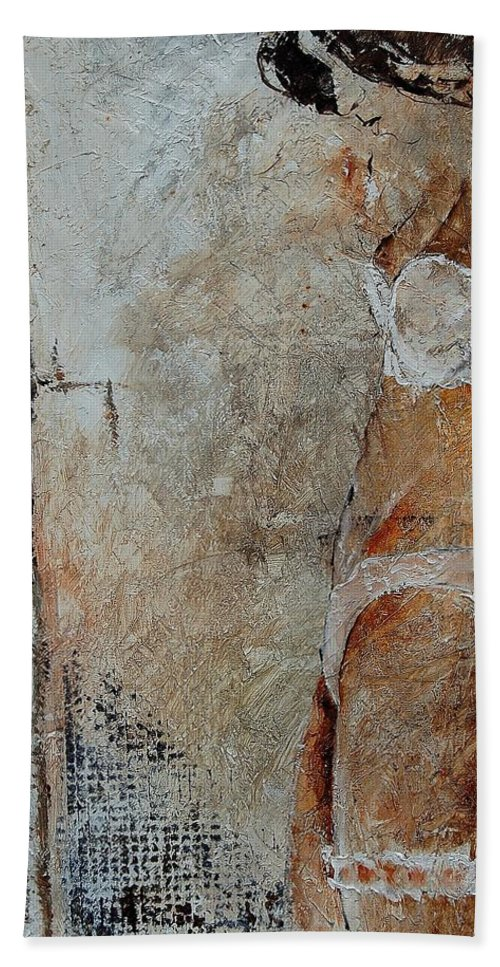 Bath Towel featuring the painting Young Girl 572563 by Pol Ledent
