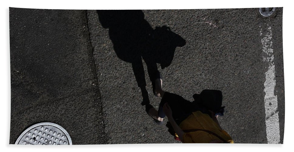 Shadows Hand Towel featuring the photograph Your Coat My Jacket by The Artist Project