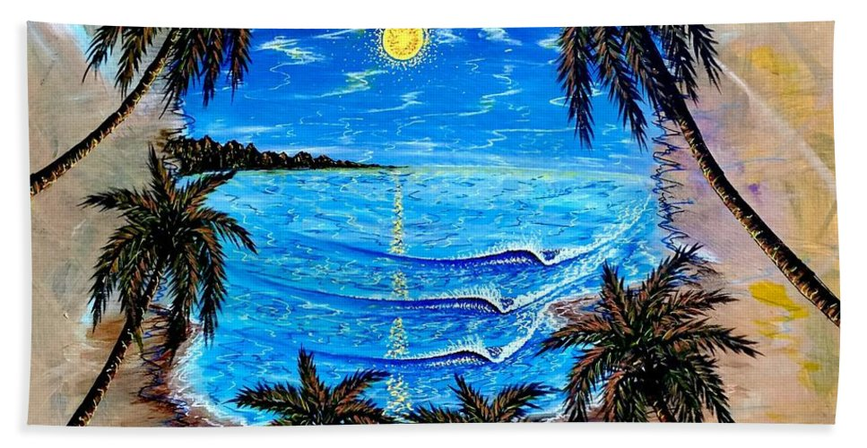 Tropical Bath Towel featuring the painting Your Vision by Paul Carter