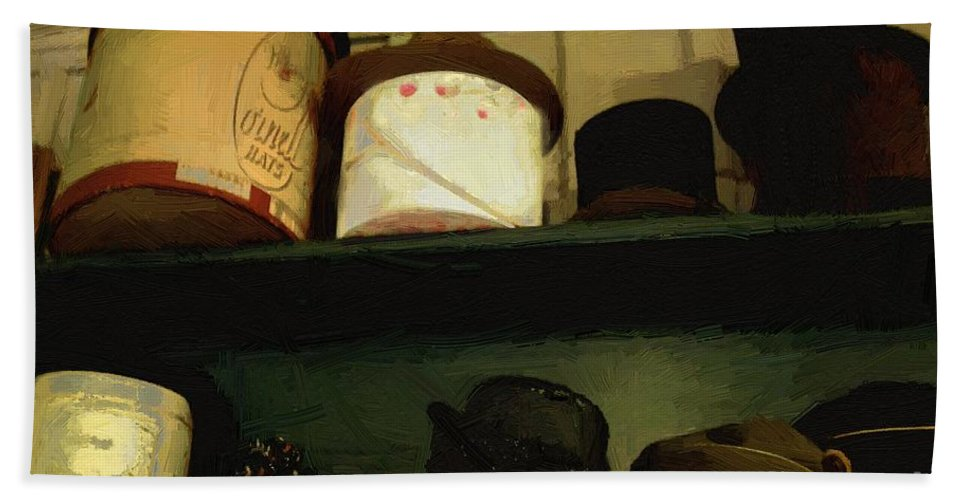 Fashion Hand Towel featuring the painting You're The Top by RC DeWinter