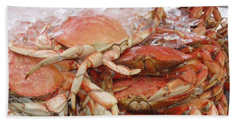 Crabs Bath Sheet featuring the photograph Yummy by Deborah Crew-Johnson