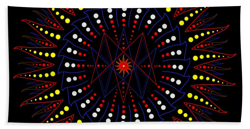 Sacred Geometry Bath Sheet featuring the digital art Z Is For Zeitgeist by Mark Golding