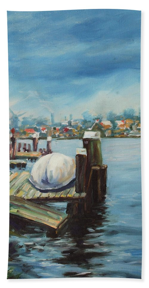 Water Bath Sheet featuring the painting Zaandam by Rick Nederlof
