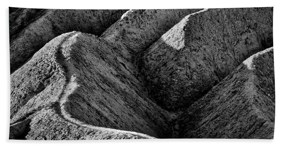 California Hand Towel featuring the photograph Zabriskie Point Badlands - Death Valley by Stuart Litoff