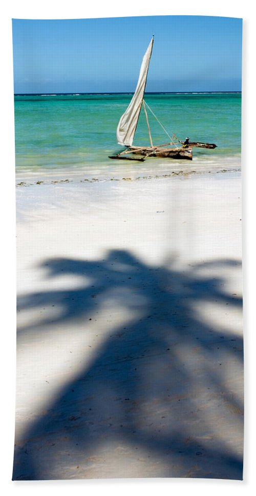 3scape Hand Towel featuring the photograph Zanzibar Beach by Adam Romanowicz
