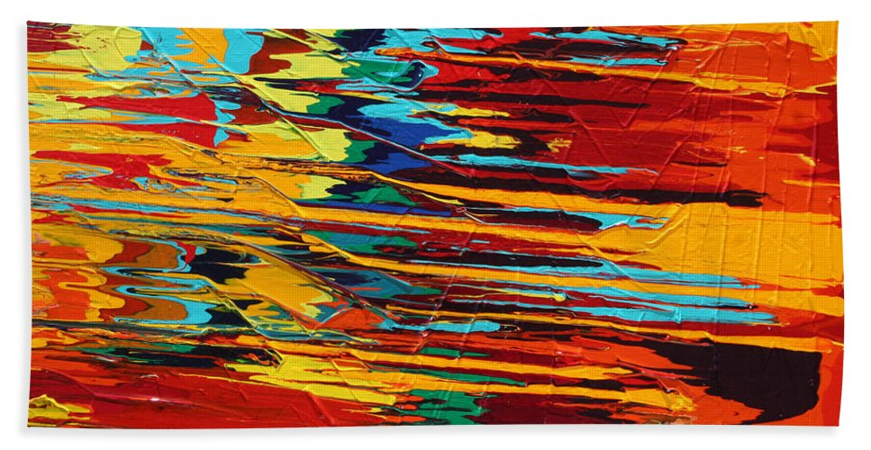 Fusionart Bath Towel featuring the painting Zap by Ralph White