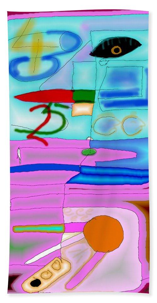 Zapp Bath Towel featuring the digital art Zapp by Helmut Rottler