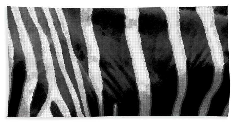 Zebra Art Hand Towel featuring the photograph Zebra Lines by Linda Sannuti