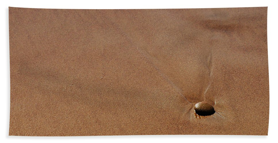 Clay Hand Towel featuring the photograph Zen At The Beach by Clayton Bruster