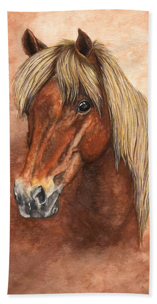 Pony Hand Towel featuring the painting Ziggy by Kristen Wesch