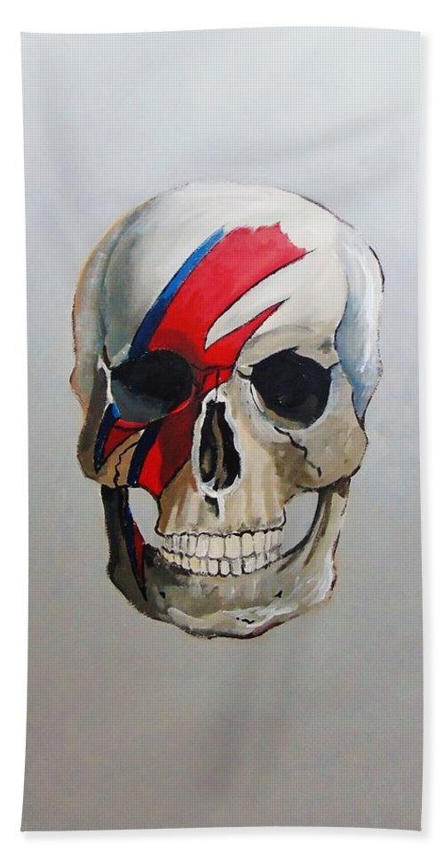 Ziggy Stardust Hand Towel featuring the painting Ziggy Stardust by Terence R Rogers