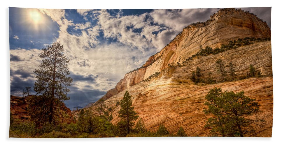 Formation Hand Towel featuring the photograph Zion Afternoon by Rikk Flohr