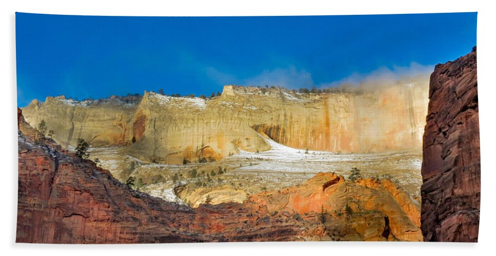 Zion National Park Hand Towel featuring the photograph Zion National Park by Patti Deters