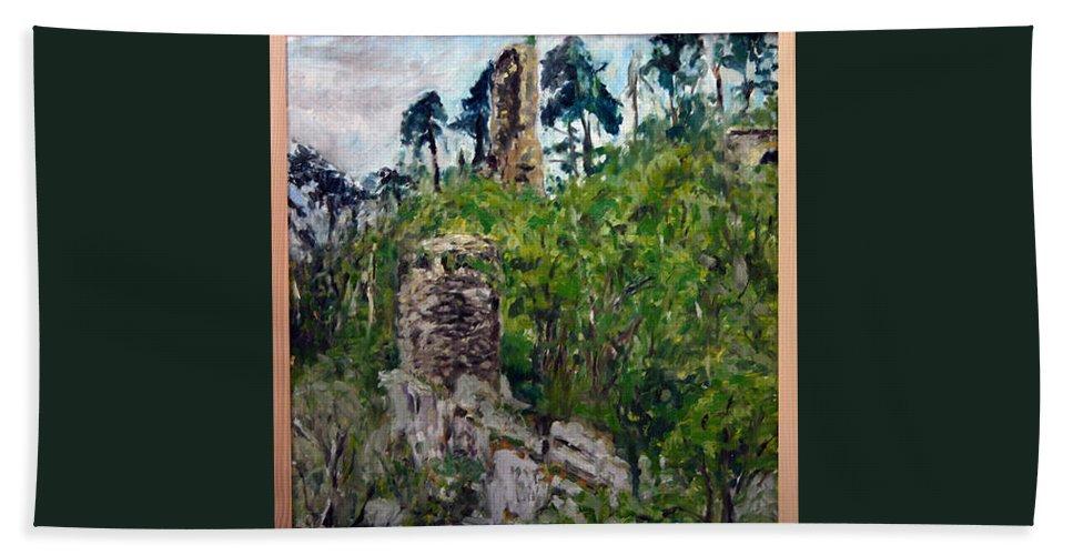 Landscape Bath Sheet featuring the painting Zlomeny Kostelec by Pablo de Choros