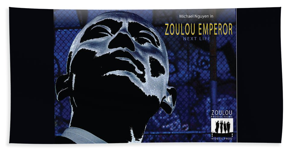 Poster Hand Towel featuring the photograph Zoulou Emperor by Line Gagne