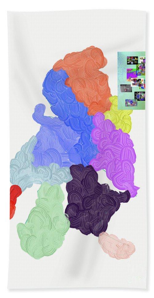 Walter Paul Bebirian Bath Towel featuring the digital art 1-9-2019c by Walter Paul Bebirian