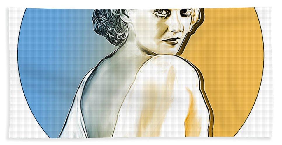 Bette Davis Bath Towel featuring the digital art Bette Davis by Greg Joens