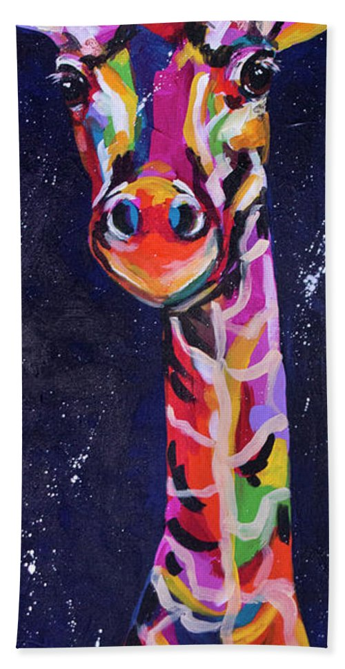 Colorado Artist Tracy Miller Bath Sheet featuring the painting Curious by Tracy Miller