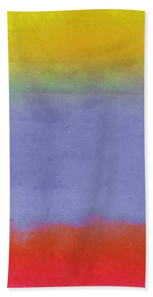 Gradients Bath Towel featuring the painting Gradients II 1 by Mindy Sommers