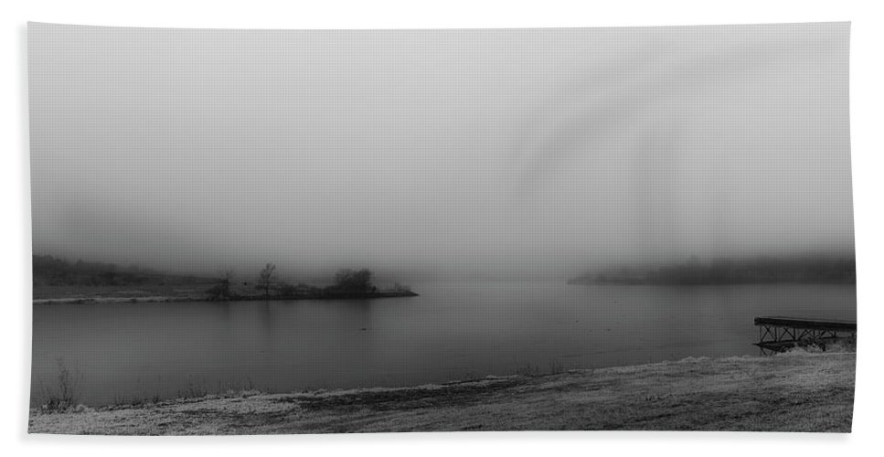 Fog Hand Towel featuring the photograph Gray Day by Edward Peterson