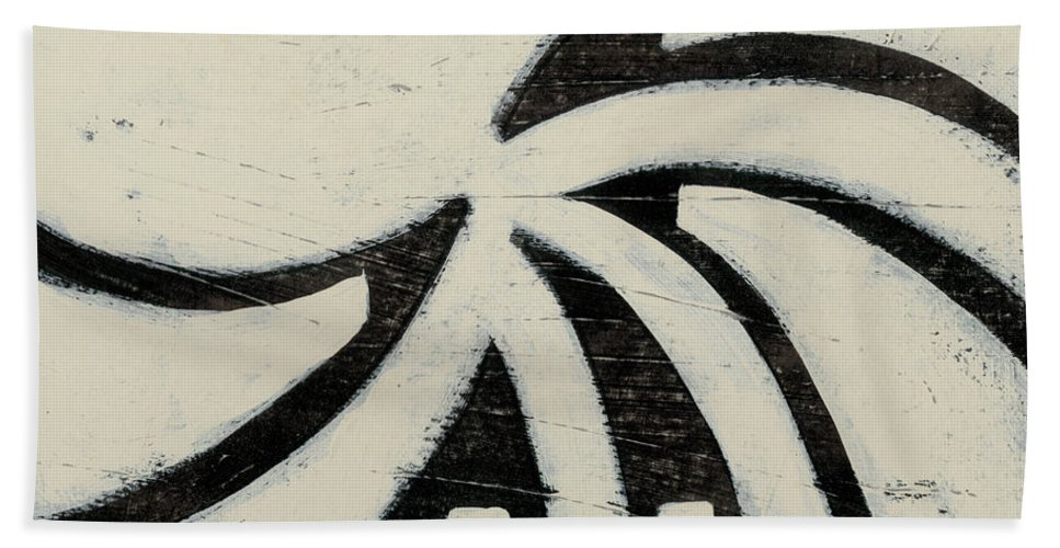 Abstract Bath Towel featuring the painting Hieroglyph Xii by June Erica Vess