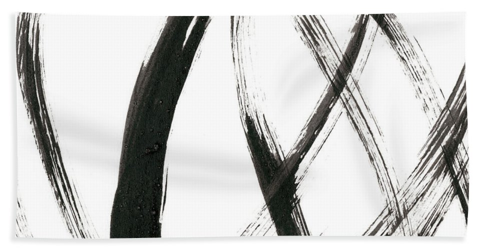 Abstract Bath Towel featuring the painting Linear Expression IIi by J. Holland