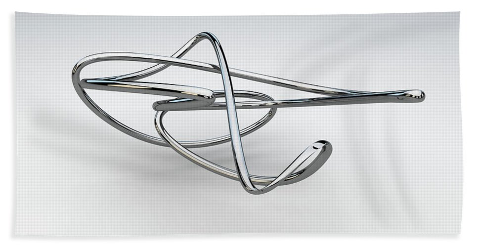 Chrome Bath Towel featuring the digital art Totally Tubular 1 by Scott Norris
