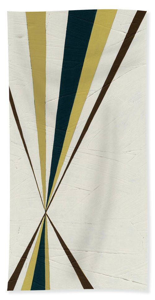 Abstract Bath Towel featuring the painting Vanishing Point II by June Erica Vess