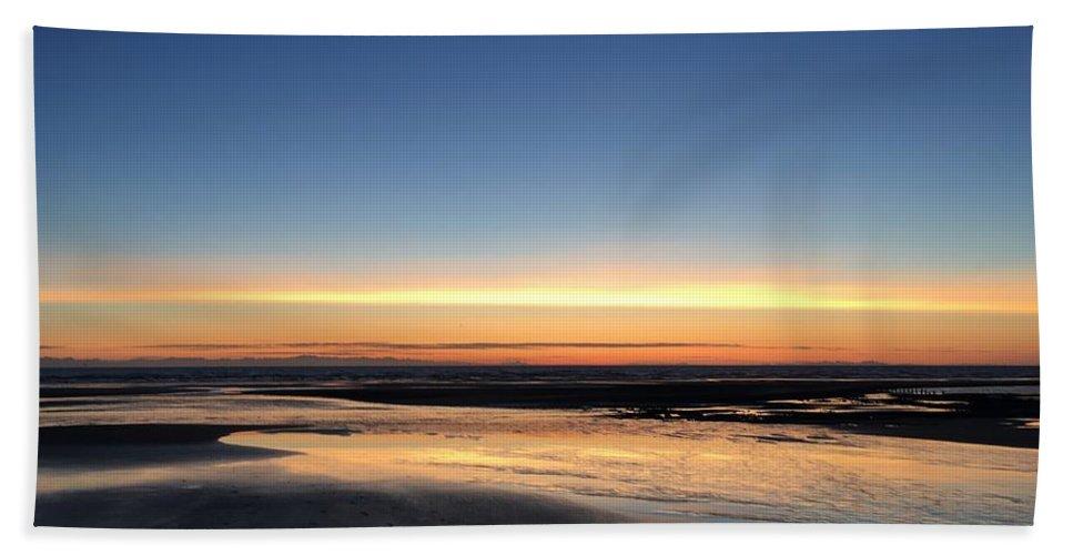 Bath Towel featuring the photograph Beach Sunset, Blackpool, Uk 09/2017 by Michael Kane