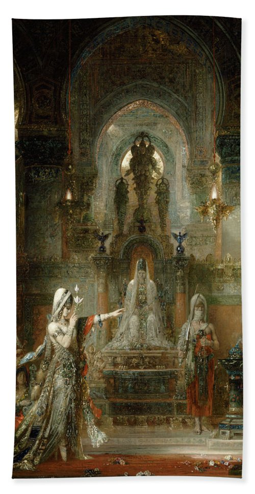 Salome Hand Towel featuring the painting Salome Dancing Before Herod by Gustave Moreau