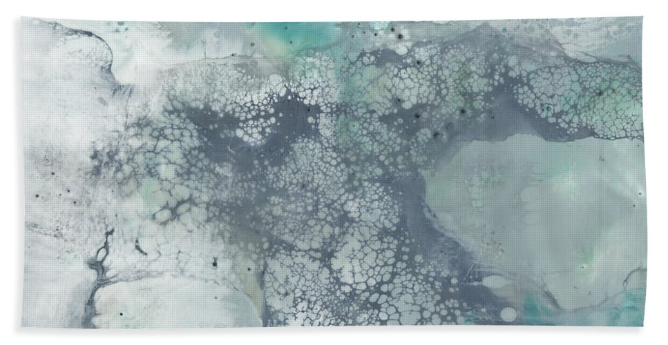 Embellished Bath Towel featuring the painting Sea Lace I by Jennifer Goldberger